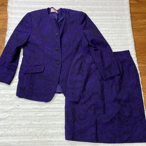 Pendleton Two Piece Suit Jacket and Skirt